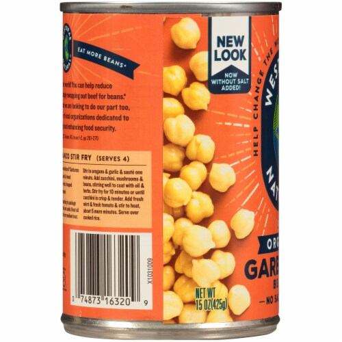 Westbrae Natural Organic Garbanzo Beans Perspective: left
