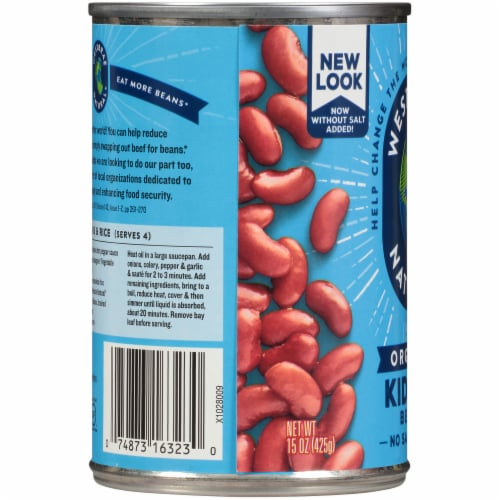 Westbrae Natural Organic Kidney Beans Perspective: left
