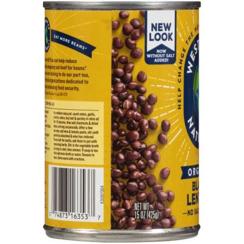Westbrae Natural Organic Black Lentils Perspective: left