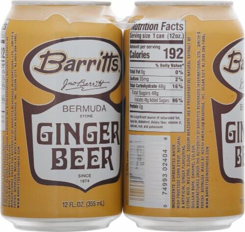 Barritt's Ginger Beer 4 Pack Perspective: left