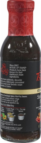 House of Tsang Szechuan Spicy Stir-Fry Sauce Perspective: left