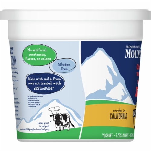 Mountain High Plain Original Whole Milk Yoghurt Perspective: left