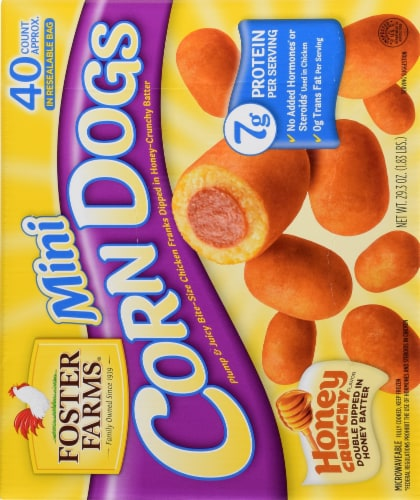 Foster Farms Honey Crunchy Mini Corn Dogs Perspective: left