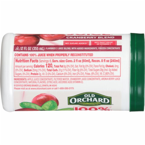 Old Orchard Cranberry Blend Juice Concentrate Perspective: left