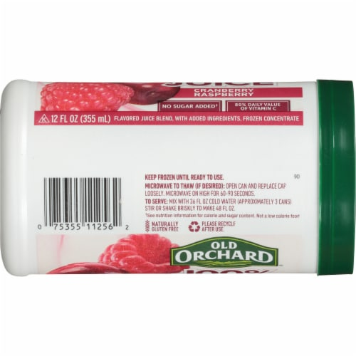 Old Orchard Cranberry Raspberry Juice Concentrate Perspective: left