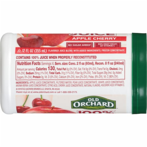 Old Orchard Apple Cherry Juice Concentrate Perspective: left