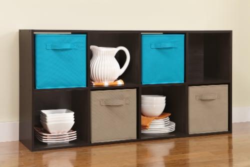 ClosetMaid Cubeicals Fabric Storage Bin - Ocean Blue Perspective: left