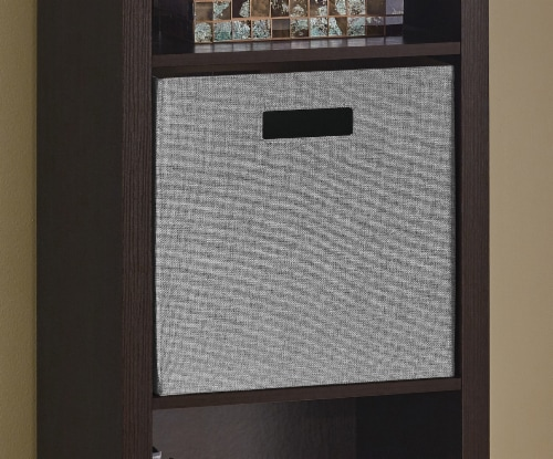 ClosetMaid Decorative Fabric Storage Bin - Gray Perspective: left