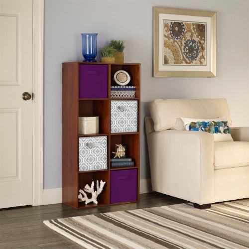 ClosetMaid Multi-Purpose Fabric Storage Bin - Purple Perspective: left