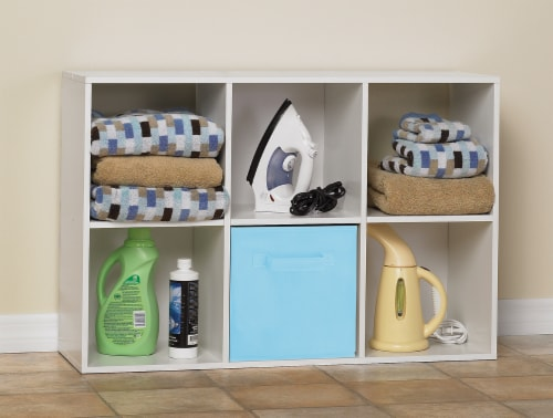 ClosetMaid Cubeicals Stackable 6-Cube Organizer - White Perspective: left