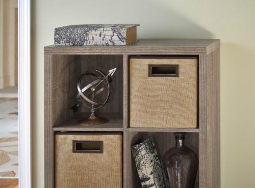 ClosetMaid Decorative Storage Fabric Bin - Creme Brulee Perspective: left