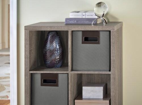 ClosetMaid Decorative Storage Fabric Bin - Ash Grey Perspective: left