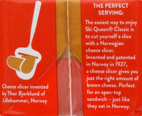 Jarlsberg Ski Queen Brunost Perspective: left