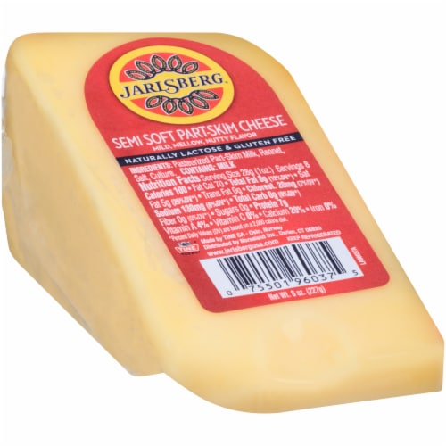 Jarlsberg Semi Soft Part-Skim Wedge Cheese Perspective: left