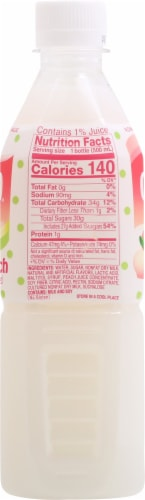 Calpico® White Peach Non-Carbonated Soft Drink Perspective: left