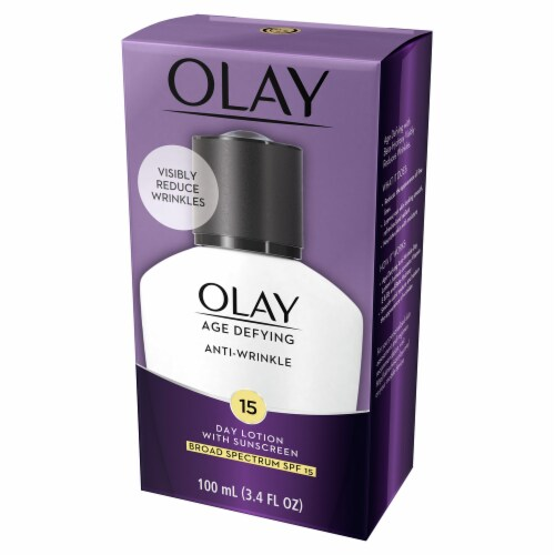 Olay Age Defying Anti-Wrinkle Day Face Lotion with Sunscreen SPF 15 Perspective: left