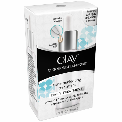 Olay Regenerist Luminous Tone Perfecting Daily Treatment Perspective: left