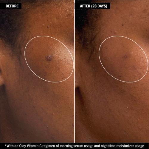 Olay Regenerist Vitamin C + Peptide 24 Brightening Serum Perspective: left
