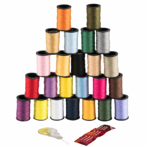 SINGER Polyester Hand Sewing Thread Spools Perspective: left