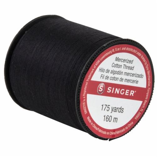 SINGER Mercerized Cotton Thread - Black Perspective: left