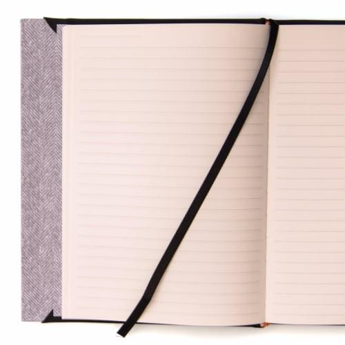 Top Flight Magnetic Flap Back Journal - Black Perspective: left