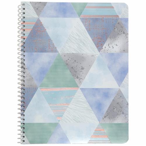 Top Flight Wide Rule Watercolor Geo Notebook - 70 Sheet - Assorted Perspective: left