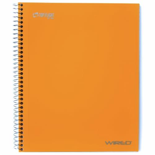 Top Flight College Rule 5-Subject Notebook - 160 Sheet - Assorted Perspective: left