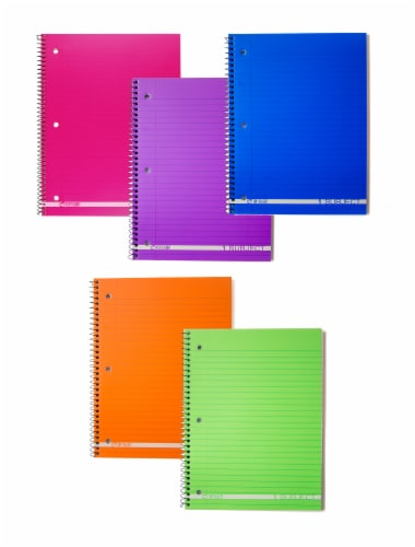 Top Flight Boss Wide Ruled 1-Subject Notebook - 90 Sheets - Assorted Perspective: left