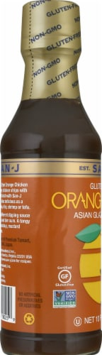San-J Gluten Free Orange Asian Glaze & Stir-Fry Sauce Perspective: left