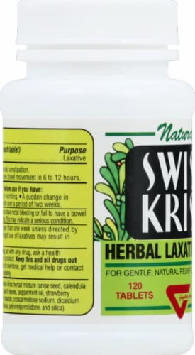 Swiss Kriss Herbal Laxative Tabs Perspective: left