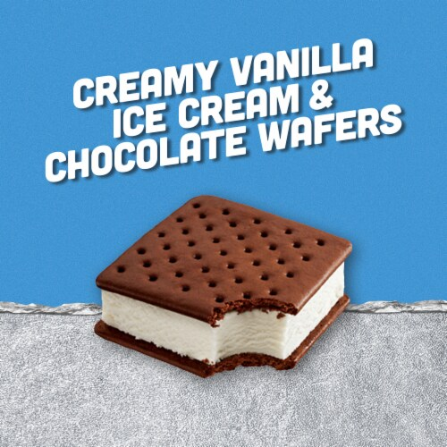 Klondike Classic Vanilla Original Ice Cream Sandwiches Perspective: left
