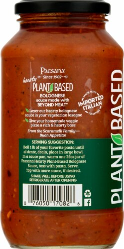 Paesana Hearty Plant-Based Bolognese Sauce Perspective: left