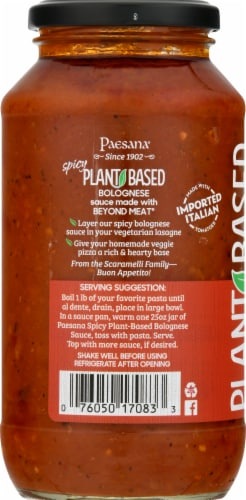 Paesana Spicy Plant-Based Bolognese Sauce Perspective: left