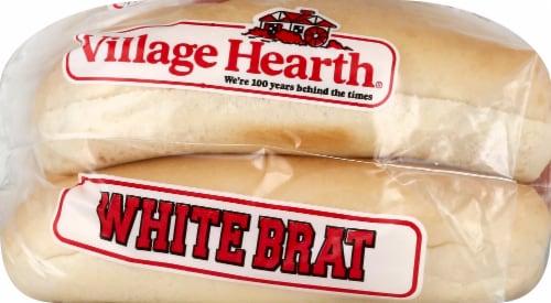 Village Hearth Wisconsin White Brat Buns Perspective: left