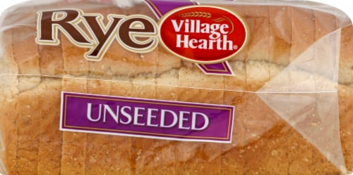 Village Hearth Unseeded Rye Bread Perspective: left
