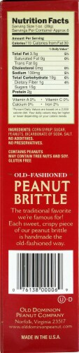 Old Dominion Old Fashioned Peanut Brittle Perspective: left