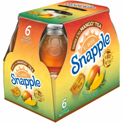 Snapple All Natural Takes 2 to Mango Tea Perspective: left