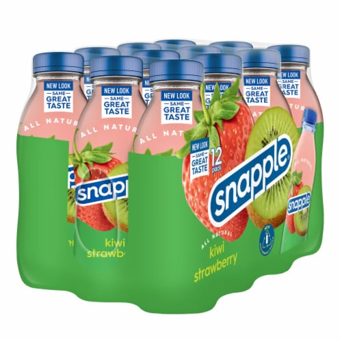 Snapple Kiwi Strawberry Flavored Juice Drink Perspective: left