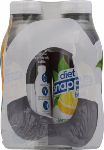 Diet Snapple Lemon Tea 6 Count Perspective: left