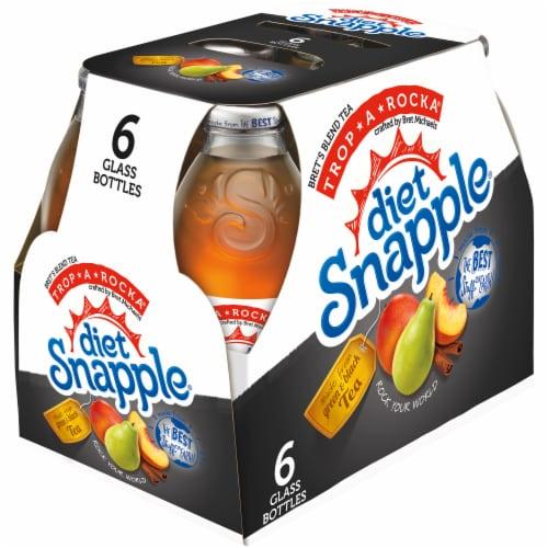 Diet Snapple Trop-A-Rocka Iced Tea Drinks Perspective: left