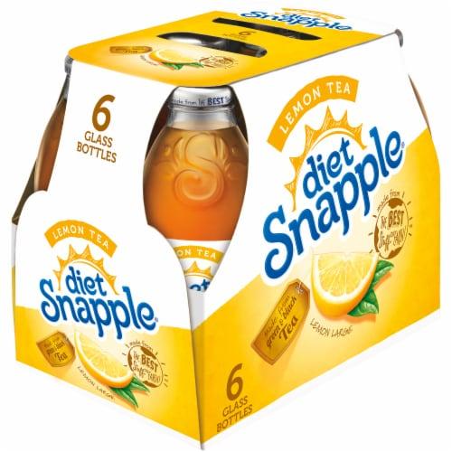 Diet Snapple Lemon Iced Tea Drinks Perspective: left