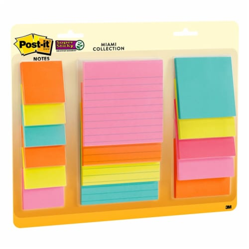 Post-it®  Super Sticky Notes - 15 Pack - Assorted Perspective: left