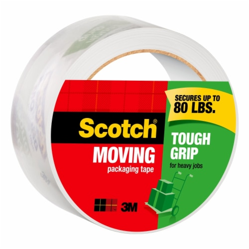 Scotch® Tough Grip Heavy Duty Moving Packaging Tape Perspective: left