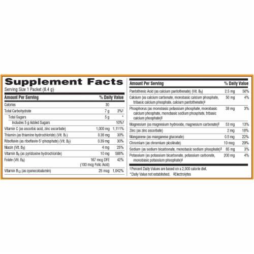 Emergen-C Cranberry-Pomegranate Dietary Supplement Fizzy Drink Mix Perspective: left