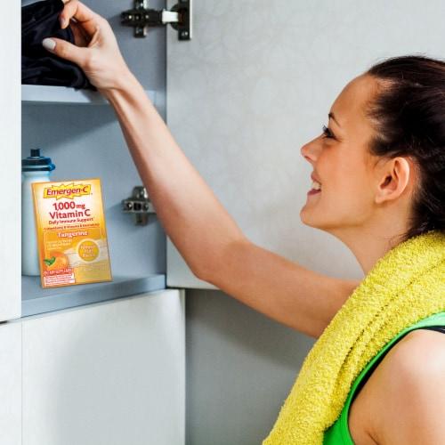 Emergen-C® Tangerine Vitamin C Immune Supplement Fizzy Drink Mix Packets 1000mg Perspective: left
