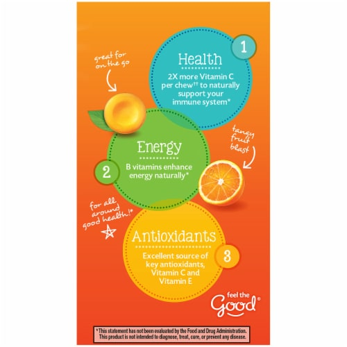 Emergen-C Chewables Orange Blast Dietary Supplement Chewable Tablet Perspective: left