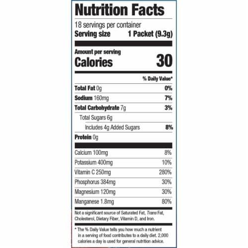 Emergen-C Hydration+ Electrolyte Replenishment Raspberry Splash Sports Drink Mix Packets Perspective: left