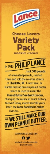 Lance Cheese Lovers Sandwich Crackers 8 Count Perspective: left
