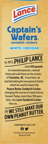 Lance Captain's Wafers White Cheddar Sandwich Crackers Perspective: left
