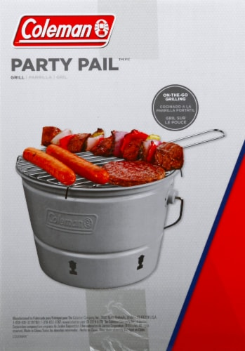 Coleman Party Pail Charcoal Grill - Gray Perspective: left